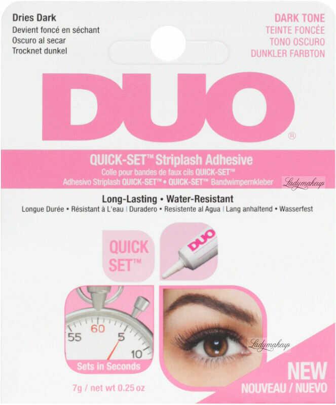 DUO - QUICK-SET Striplash Adhesive - Klej do rzęs i kępek - 7 g - DARK TONE
