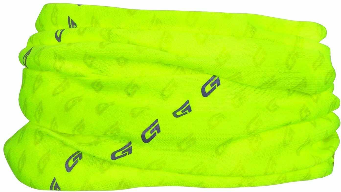 GripGrab Wielofunkcyjna chusta na szyję dla dorosłych Headwear Multi Purpose, żółty Hi-Vis odblaskowy, jeden rozmiar (54-63 cm)