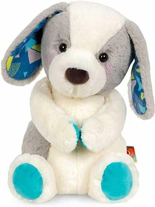 B. toys by Battat BX1857C30Z B. Klasyczny pluszowy piesek - biały i szary