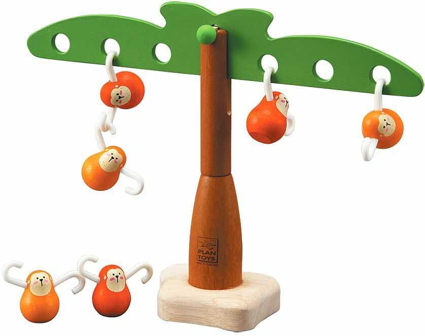 Małpki odpoczywające na palmie, PLTO-5349-Plan Toys - zabawki drewniane