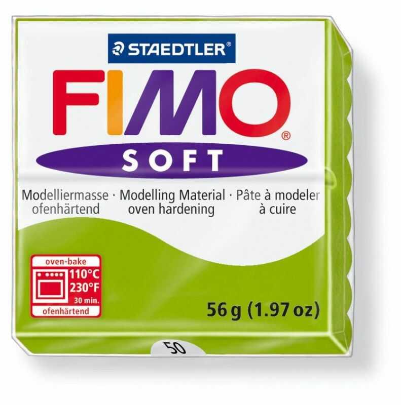 Masa termoutwardzalna FIMO SOFT 57g 809577 809652, Kolor masy: Seledynowa