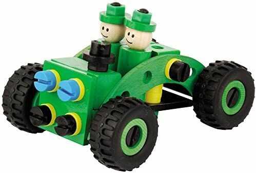 Heros 100037112 - drewniany Constructor Policja Buggy, 70-częściowy