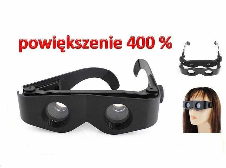 3w1!! Okulary/Lornetka/Lupa Powiększająca 4x.
