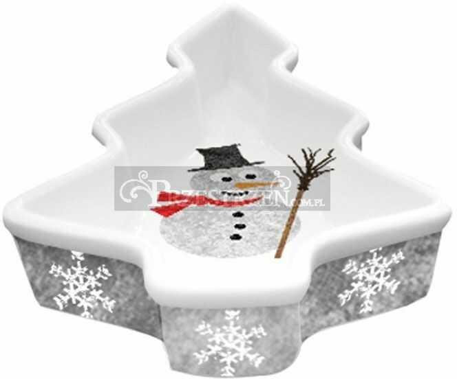 PORCELANOWA MISECZKA - CHOINKA - Bałwanek - I m a Snowman!