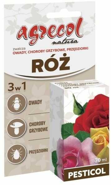 Środek ochrony roślin Agrecol Pesticol do róż 3 w 1 30 ml