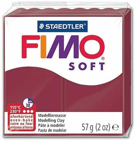 Masa termoutwardzalna FIMO SOFT 57g 809751 14677, Kolor masy: Wiśniowa
