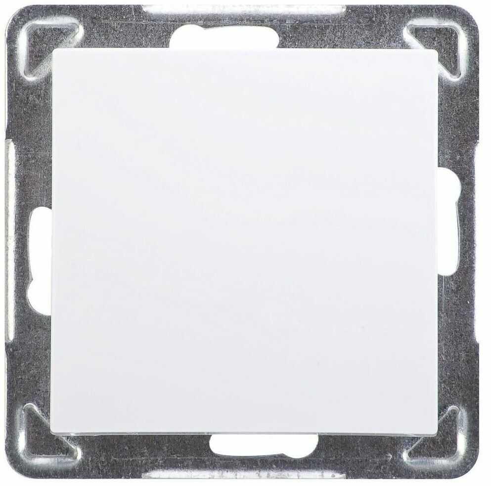 Włącznik pojedynczy IMPRESJA Biały OSPEL