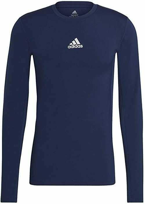 adidas Koszulka męska Techfit Compression Long Sleeve Tee niebieski Team Navy Blue XL Tall
