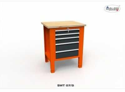 """Stół do warsztatu SWT 07/05 """"JEDYNKA"""" do warsztatu metalowy"""