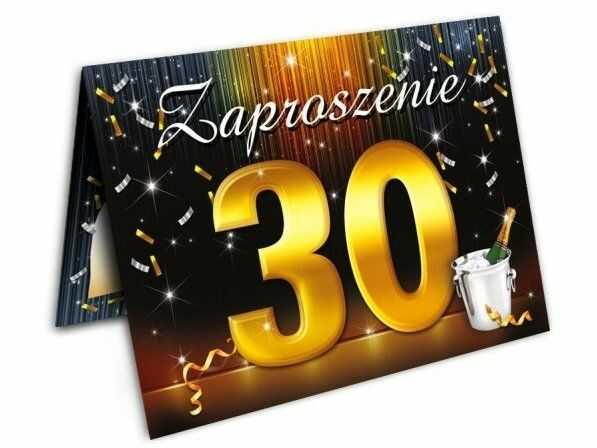 Zaproszenie na 30 urodziny z kopertą 1szt. ZX6802
