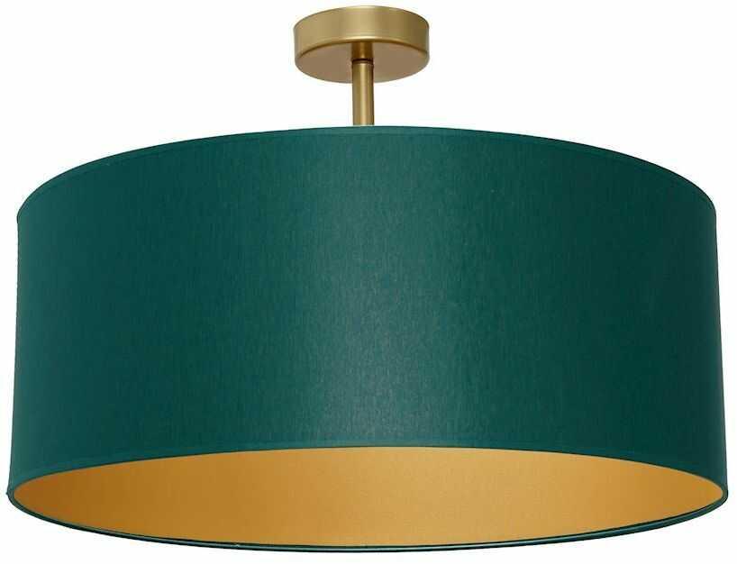 Milagro BEN GREEN/GOLD MLP6453 plafon lampa sufitowa klosz tkanina zieleń złoty 3xE27 50cm