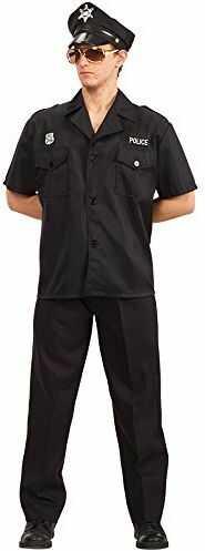Carnival Toys 83441 - policjant, męski kostium z czapką, M