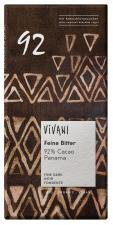 Czekolada gorzka 92% kakao BIO 80g Vivani