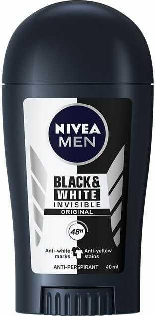 Nivea Men Invisible Black & White antyperspirant przeciwko białym i żółtym plamom 48 godz. 40 ml