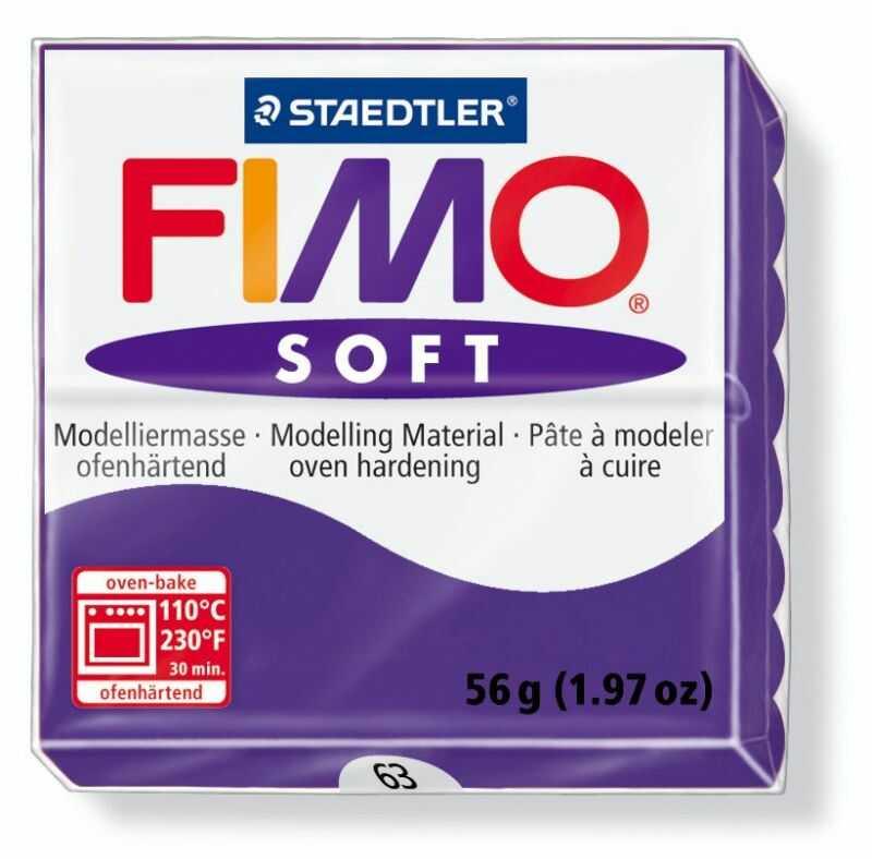 Masa termoutwardzalna FIMO SOFT 57g 809690 809775, Kolor masy: Fiołkowa