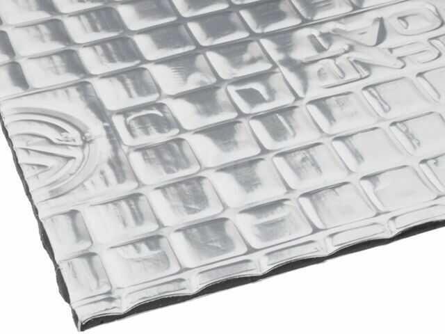 Mata tłumiąca SILENT COAT folia aluminiowa, guma butylowa 375x265x2mm