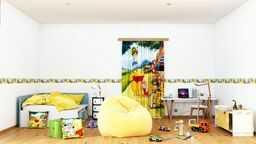 AG Design Disney Winnie Puuh naklejki ścienne, folia samoprzylepna, wielokolorowa, 500 x 10 cm