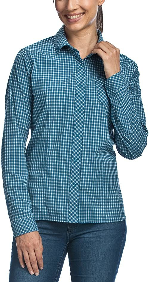 Tatonka Damska bluzka Camden W''s Long Sleeve Shirt, Iris Blue, 40, M383