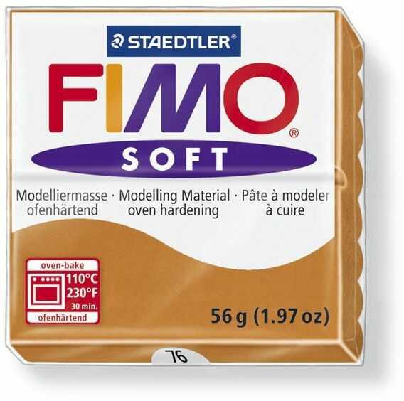 Masa termoutwardzalna FIMO SOFT 57g 809775 809850, Kolor masy: Koniakowa