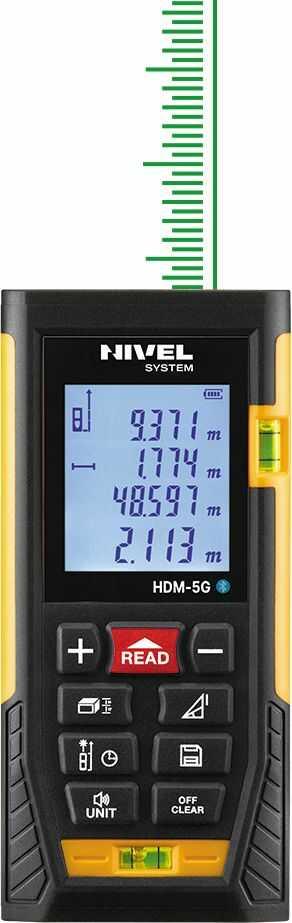 Dalmierz laserowy Nivel System HDM-5G zielony