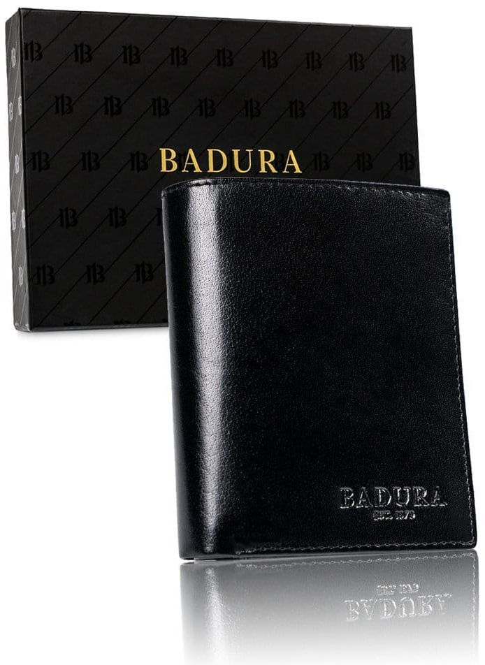 BADURA portfel meski skórzany ochrona RFID 99117