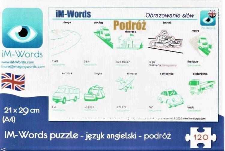 iM-Words Puzzle 120 Angielski - Podróż
