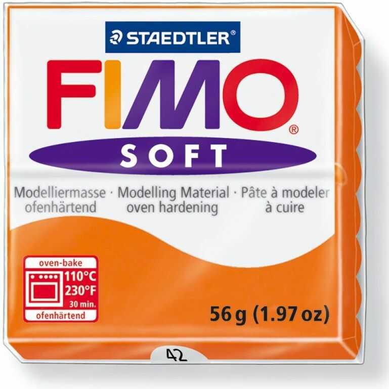 Masa termoutwardzalna FIMO SOFT 57g 809850 14660, Kolor masy: Słoneczna pomarańczowa