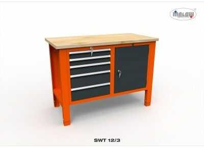 Stół narzędziowy SWT 12/03 ''DWÓJKA'' metalowy na klucz