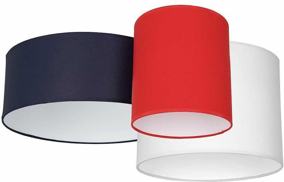 Milagro STAN NAVY BLUE MLP64600 plafon lampa sufitowa trzy abażury tkanina 3xE27 70cm