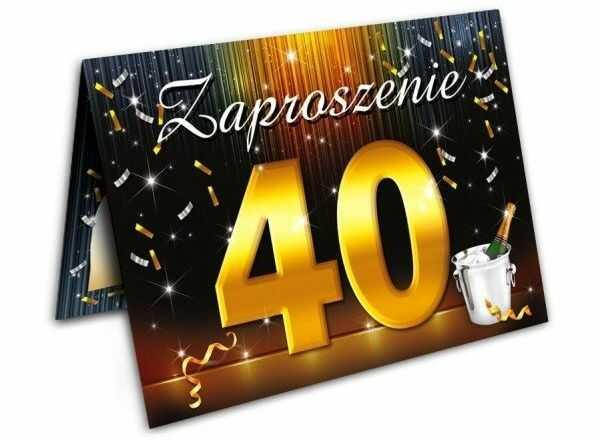 Zaproszenie na 40 urodziny z kopertą 1szt. ZX6800