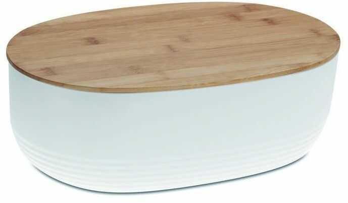 Kela - namur - owalny pojemnik na chleb, 37,50 cm, biały