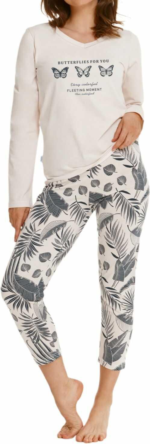 Bawełniana piżama damska TARO OMENA 2559 ecru