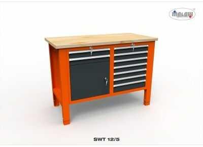 """Stół narzędziowy SWT 12/05 """"DWÓJKA"""" warsztat metalowy na klucz"""
