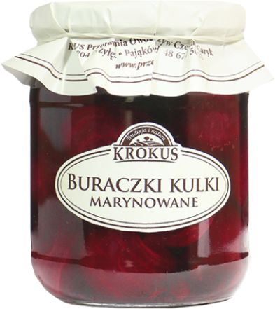 Buraki Buraczki Kulki Marynata 470g - Krokus