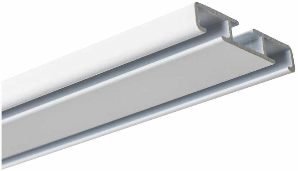 Szyna sufitowa dwustronna 200 cm 2-torowa lub 1-torowa biała aluminiowa Kowalski