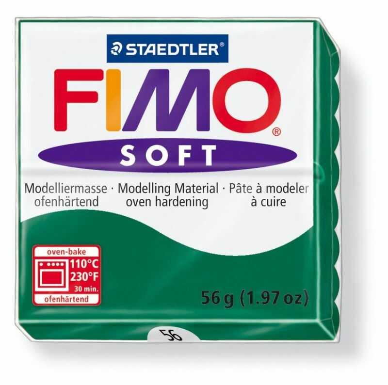 Masa termoutwardzalna FIMO SOFT 57g 809638 809713, Kolor masy: Szmaragdowa