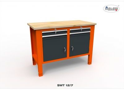 Stół narzędziowy SWT 12/07 ''DWÓJKA'' warsztat metalowy narzędzia
