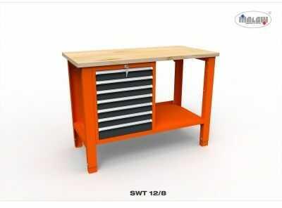 """Stół narzędziowy SWT 12/08 """"DWÓJKA"""" do warsztatu blat roboczy"""