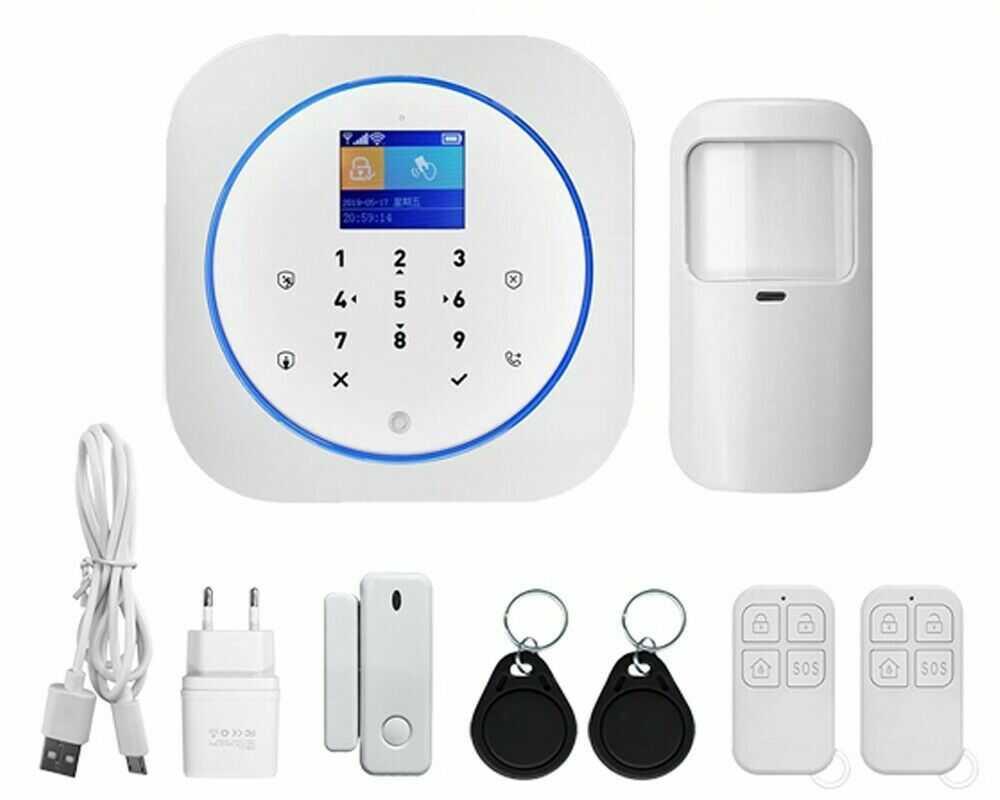 Alarm bezprzewodowy GSM Satlink SL-G12 biały