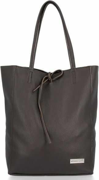 Uniwersalne Torebki Skórzane Shopper Bag firmy Vittoria Gotti Czekolada (kolory)
