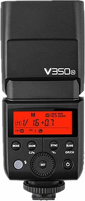 Godox V350N kompaktowa lampa błyskowa czarna lampa błyskowa do aparatu (kompaktowa lampa błyskowa, czarna, 1,7 s, Nikon, 0,1 s, 36 m)