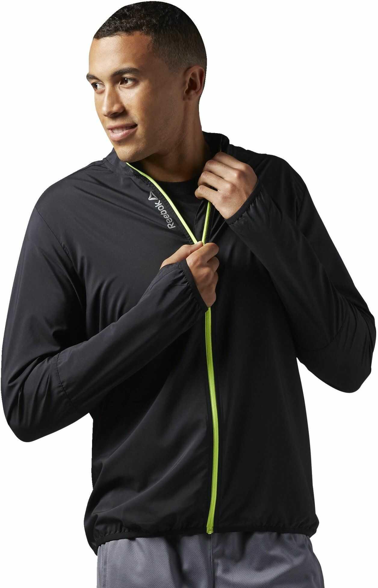 Reebok męska kurtka Running Essentials Woven Jacket, czarna (czarna), XL, AJ0321