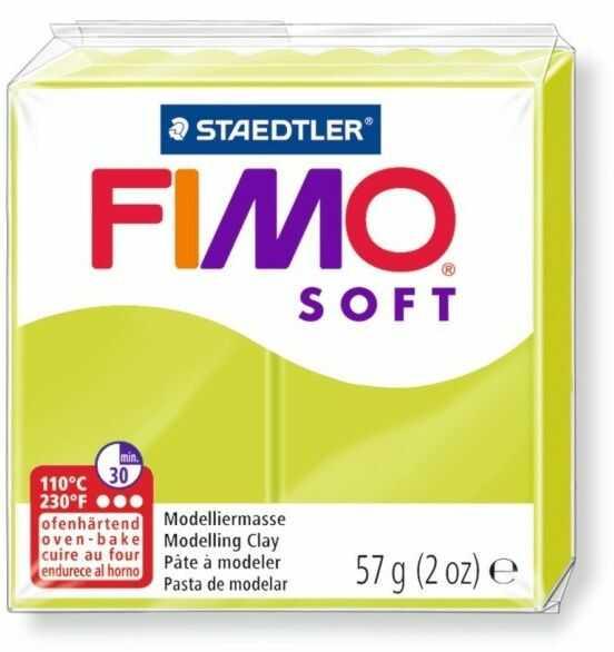 Masa termoutwardzalna FIMO SOFT 57g 809874 14684, Kolor masy: Limonkowa