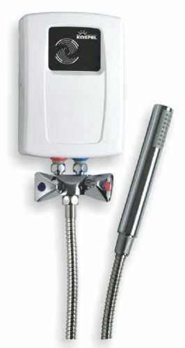 Elektryczny przepływowy ogrzewacz wody Kospel EPS2.P Prister 4,4 kW z armaturą