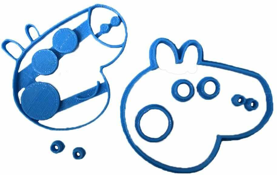 Cuticuter Peppa krajalnica do masy cukrowej, niebieska, 8 x 7 x 1,5 cm