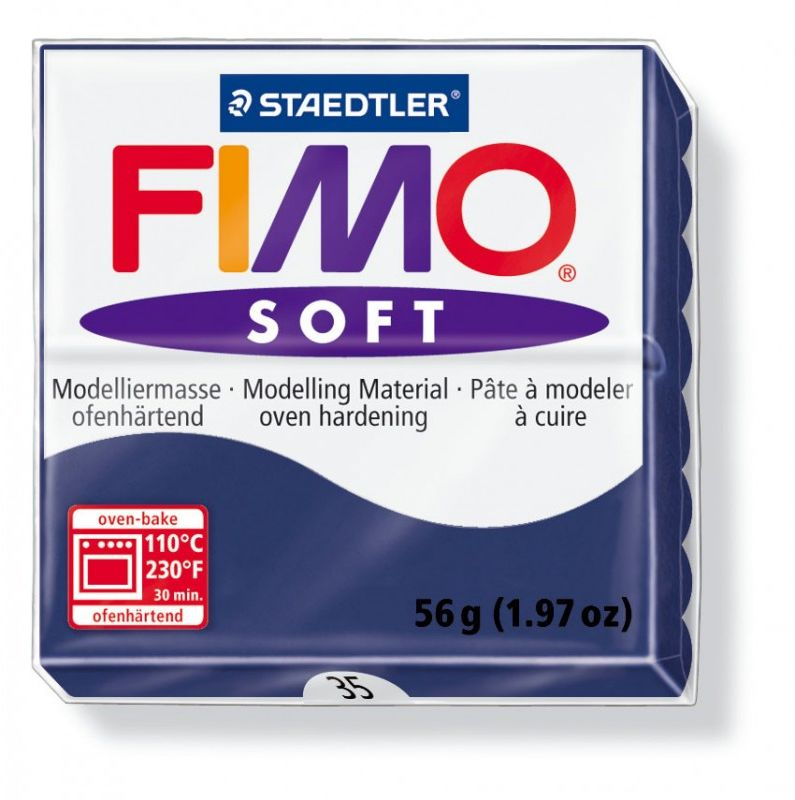 Masa termoutwardzalna FIMO SOFT 57g 809478 809553, Kolor masy: Granatowa