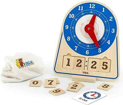 Viga Toys 44547 zegar do nauki