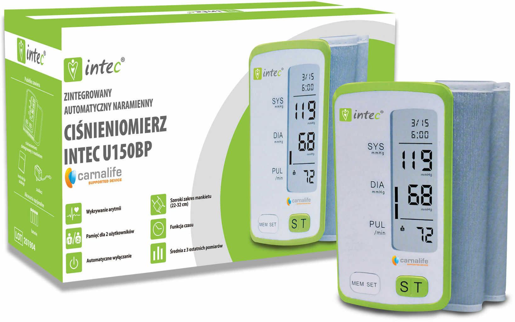 Zintegrowany ciśnieniomierz naramienny INTEC U150BP