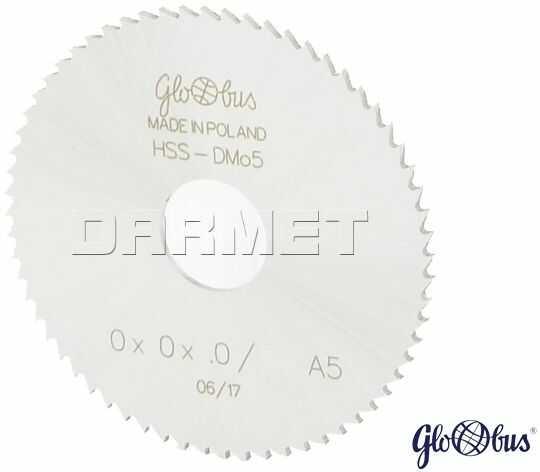 Frez tarczowo-piłkowy HSS 63 x 16 x 1 mm / 100z A 5 GLOBUS (FP110-0063-0006)