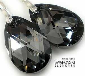 Okazja Swarovski Nowe Piękne Kolczyki Silver Night